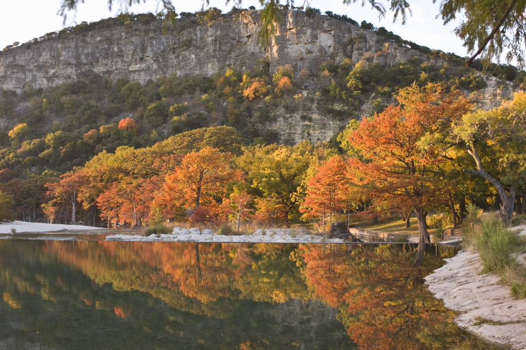 Autumn Colors Reflecting in Frio River at Texas' Hill Country