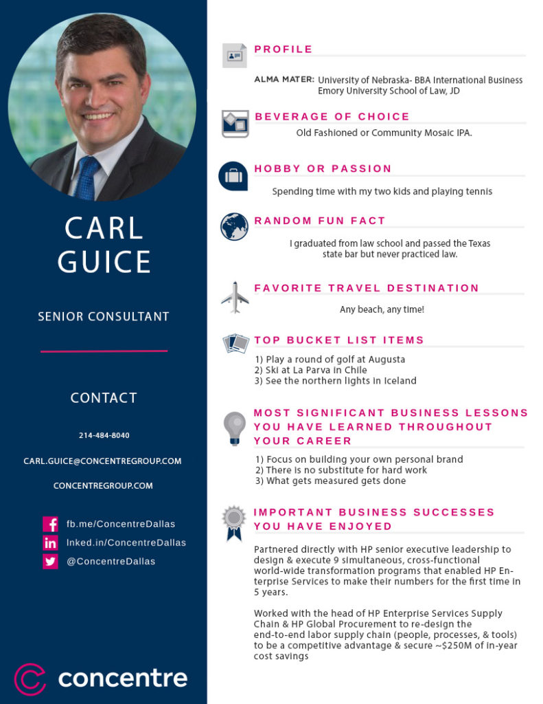 More than a consultant Carl Guice